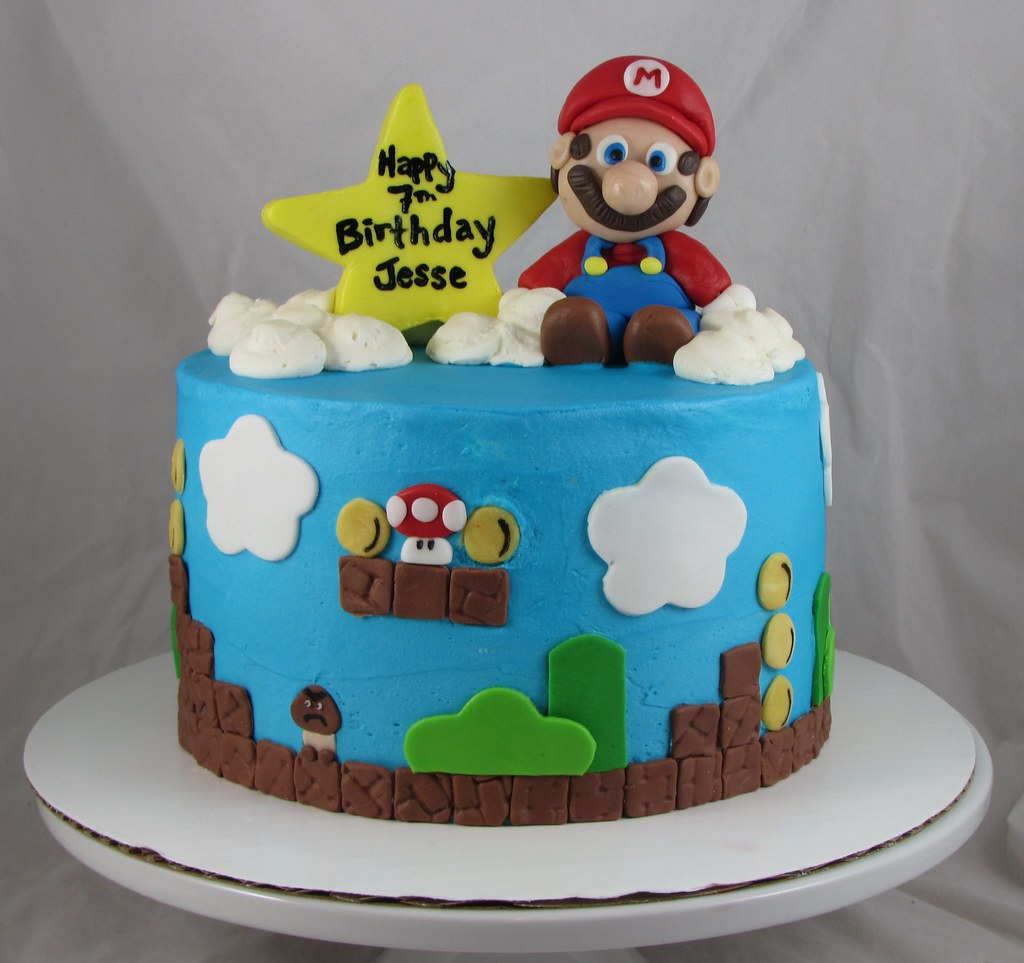 Mario Brothers Cupcake Cake