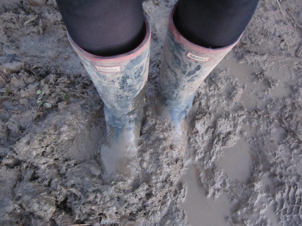 Mud pantyhose muddy