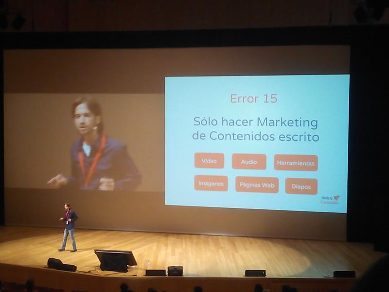 Bruno Vázquez-Dodero hablando de errores del Marketing Online