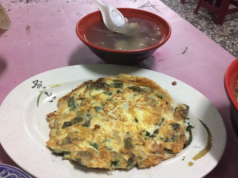 九層塔炒蛋&蘆薈蛤蜊湯
