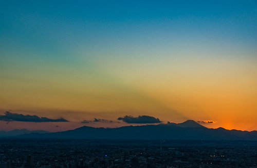 Fuji just after sunset