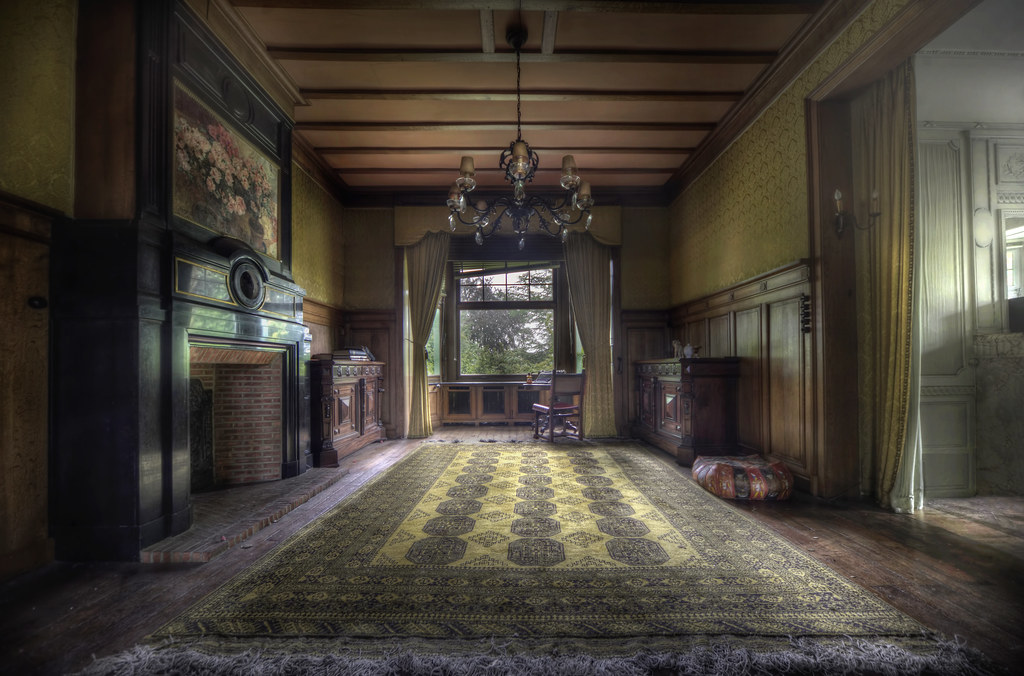 Abandoned manor house study explore a strong smell for Homes by andre