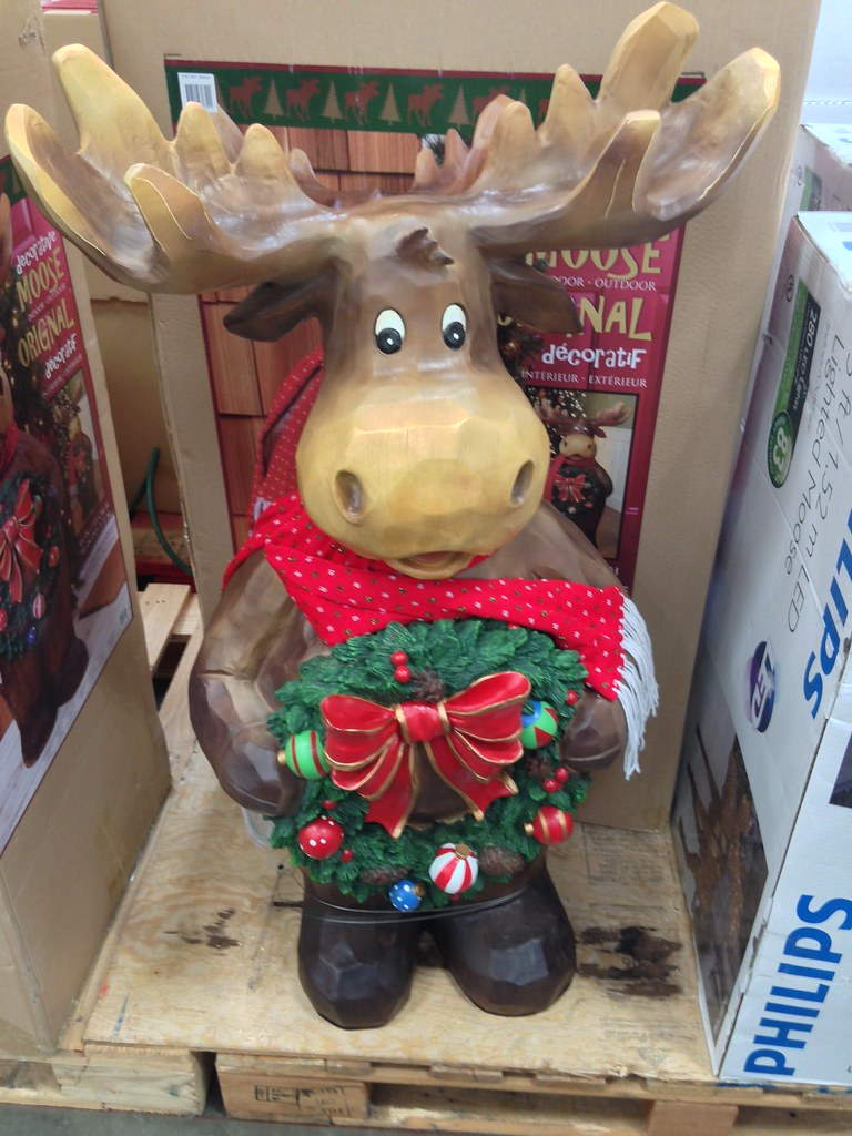 Costco christmas holiday moose decoration a look at the