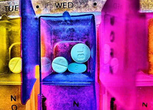 prescription pill colors box