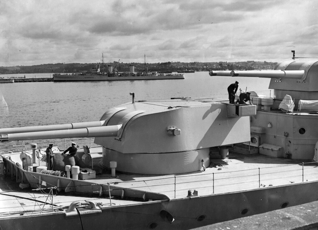 April 16 1937 Hmas Canberra I And Sydney Ii Berth In