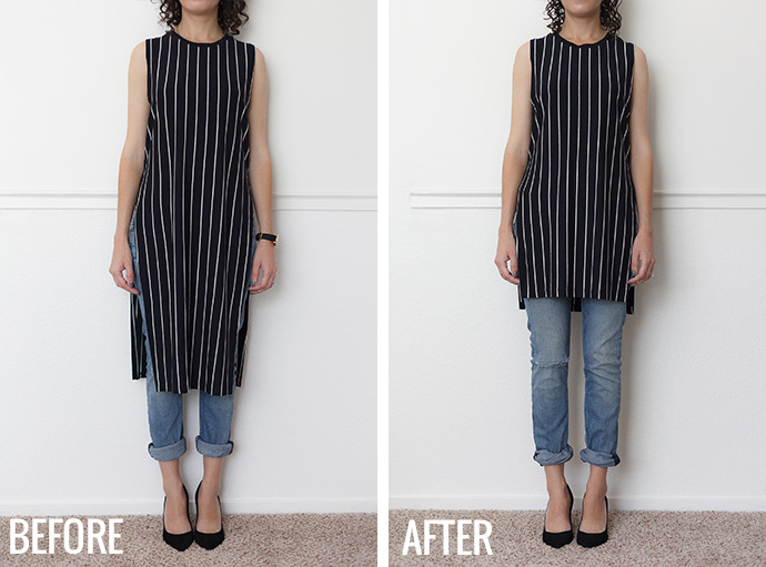 Adventures in Alterations – Minimizing a Maxi Tunic