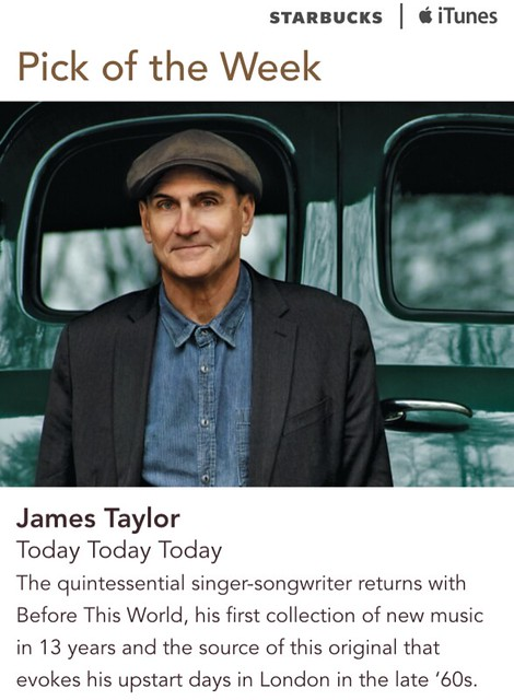 Starbucks iTunes Pick of the Week - James Taylor - Today Today Today