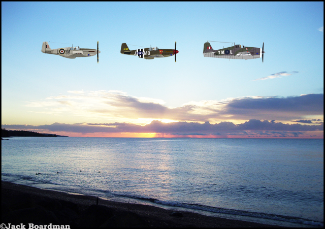 Historic Air Force airplanes over Superior ©Jack Boardman