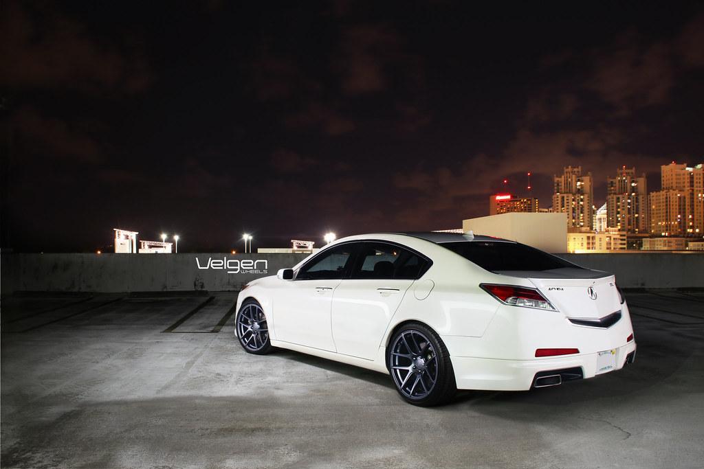 Acura Tl Lowered On Velgen Wheels Vmb5 Mg Acura Tl