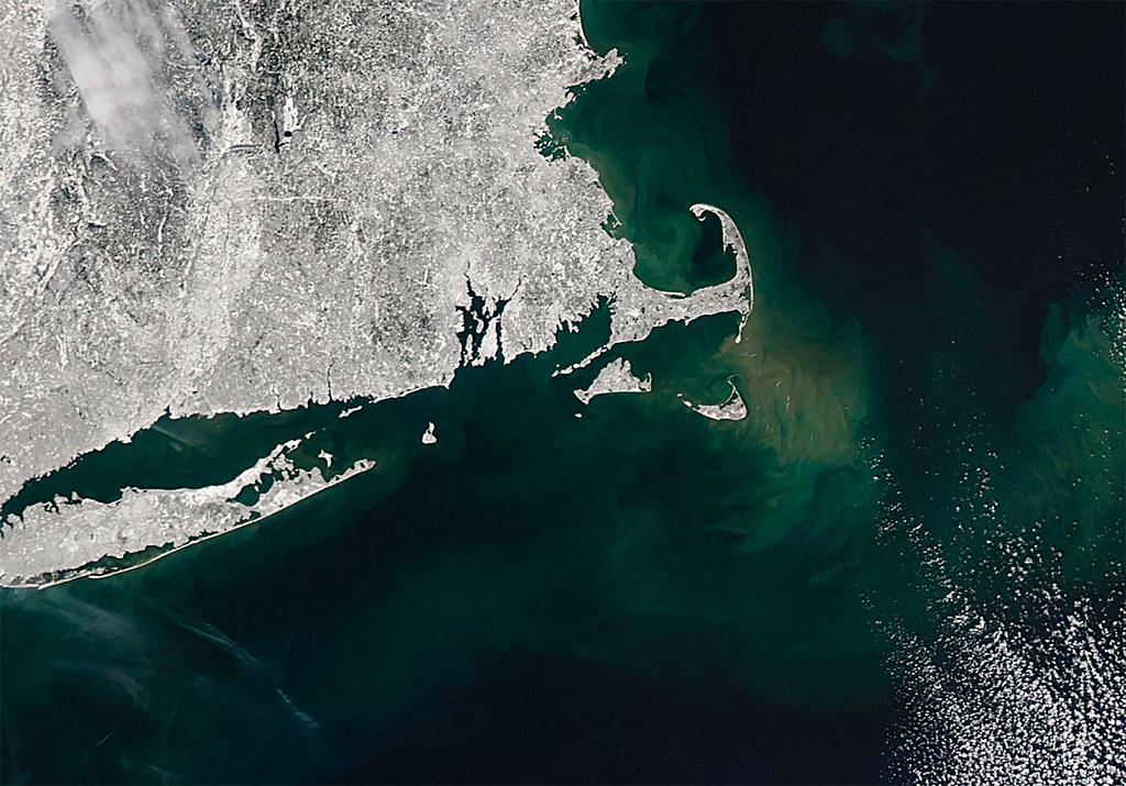 Cape Cod in Winter Satellite Image   In February 2013, a ...
