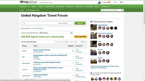 United Kingdom Forum, Travel Discussion for United Kingdom, Europe – TripAdvisor - Mozilla Firefox 23052014 172200 | by mymsman