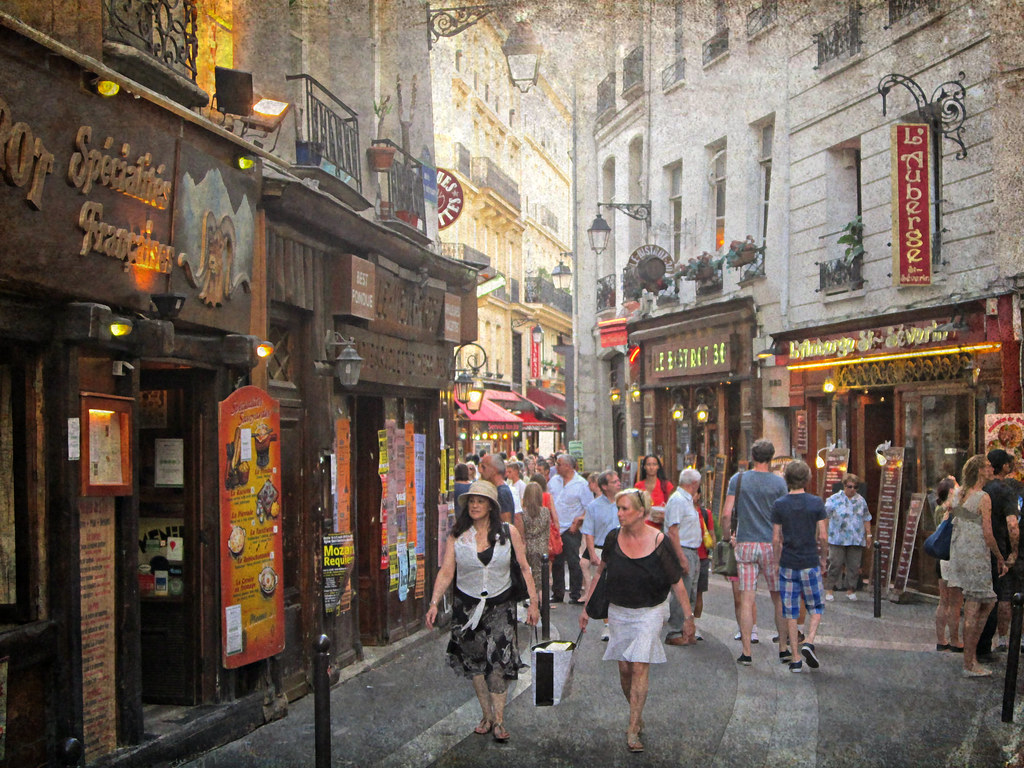Paris rue saint s verin quartier latin texture from ipic flickr - Quartier des antiquaires paris ...