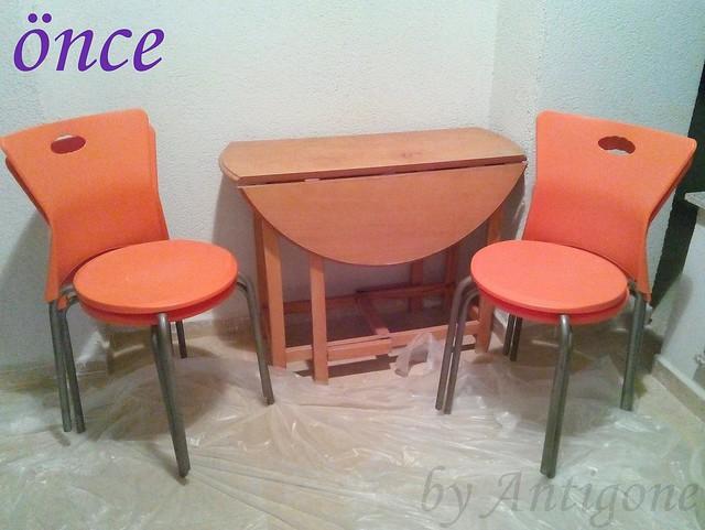 Byantigone Balkon Masası Ve Sandalye Boyama