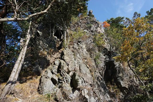 古賀志山~赤岩山 岩の登山道