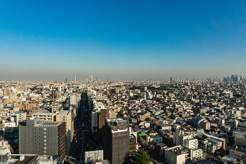 Overlooking the Shinjuku from Nerima ward office