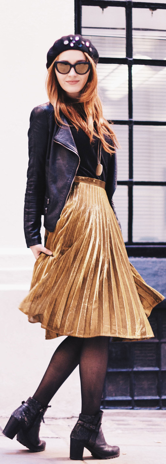 "www.fashionartista.com ""Why everyone is obsessed with the pleated metallic skirt trend"""