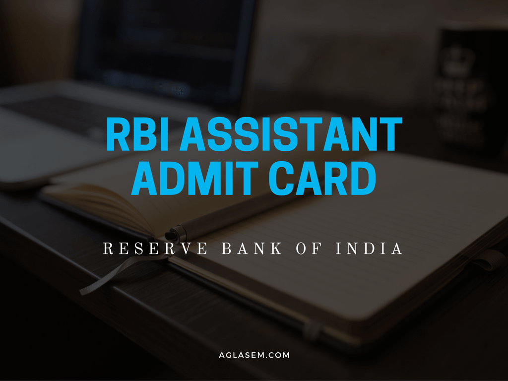RBI Assistant Admit Card 2016