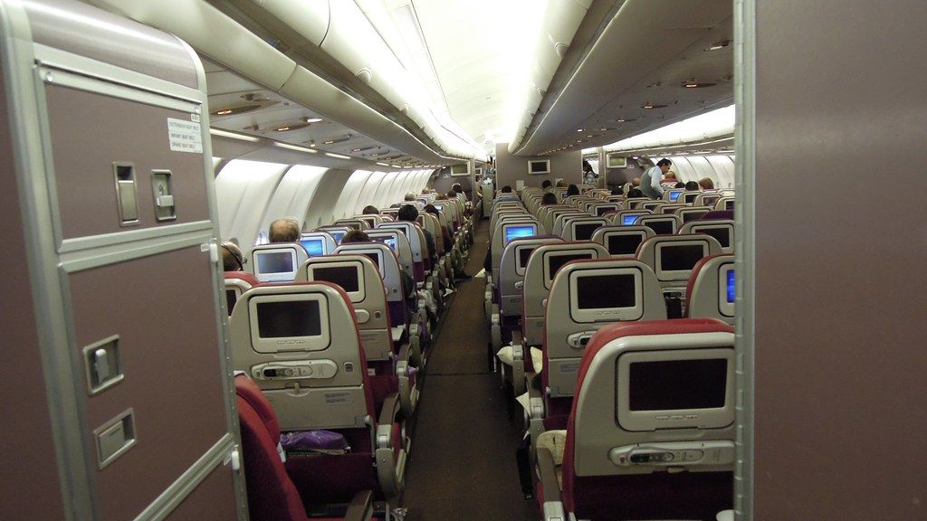 Malaysia Airlines Airbus A330 300 Economy Cabin