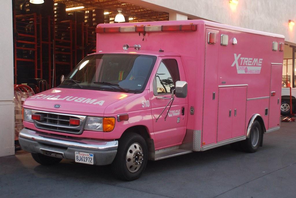 Xtreme Care Ambulance Very Pink Ford E Series Ambulance