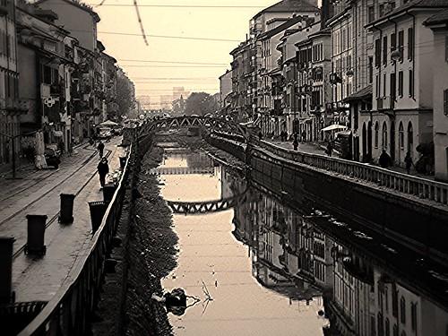 Zona navigli milano lombardia bianco e nero milan for Foto hd bianco e nero