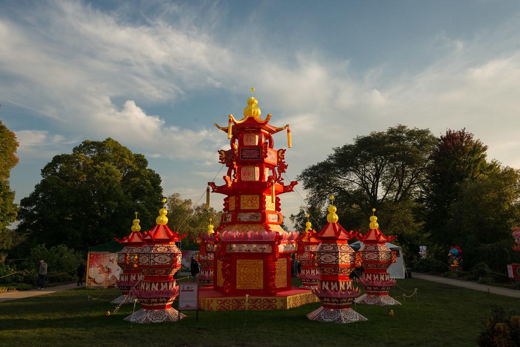 Pagoda China Lights At Boerner Botanical Gardens In Hales Flickr
