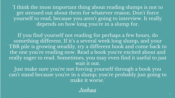 Reading Slumps Joshua