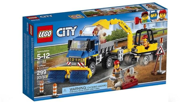 LEGO City Sweeper & Excavator (60152)