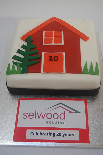 A simple but effective way of celebrating 20 years in business - with a handmade rendition of your logo!  Please enquire about corporate cake prices.
