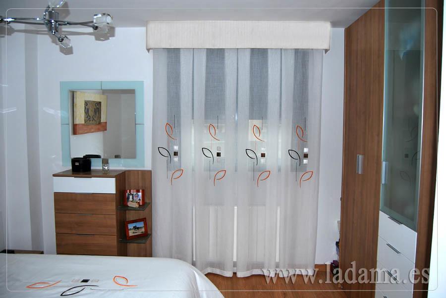cortinas a fuelles con bando para dormitorio visita
