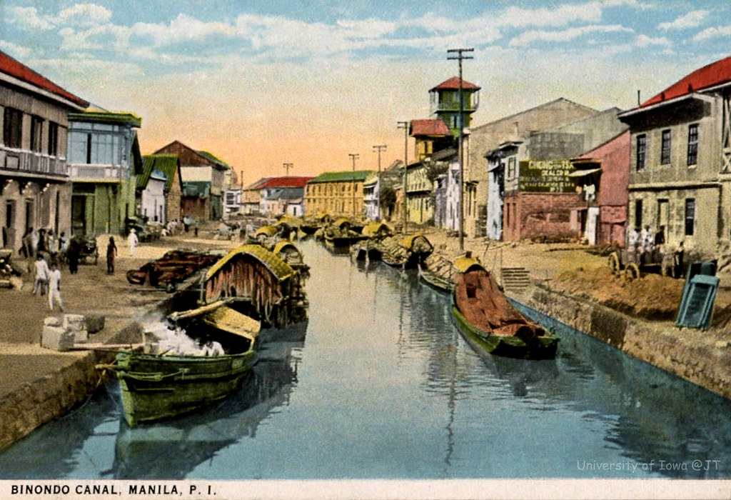Binondo Canal, Manila, Philippines, before 1929 ...