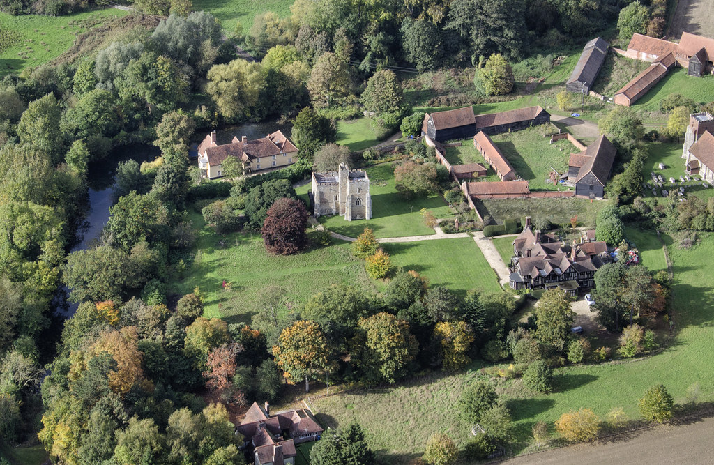 Little Wenham Hall Aerial Of Wenham Castle A Fortified M Flickr