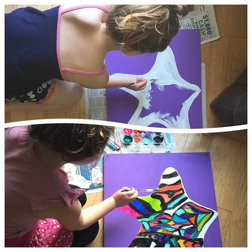 The making of zebra butterfly sea star.