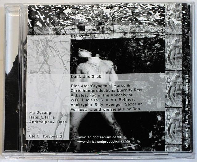LEGION OF SADISM - AUF GEDEIH UND VERDERB CD