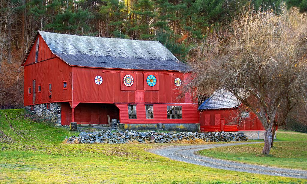 Barn art 1 pennsylvania german style barn hamilton for Dutch style barn