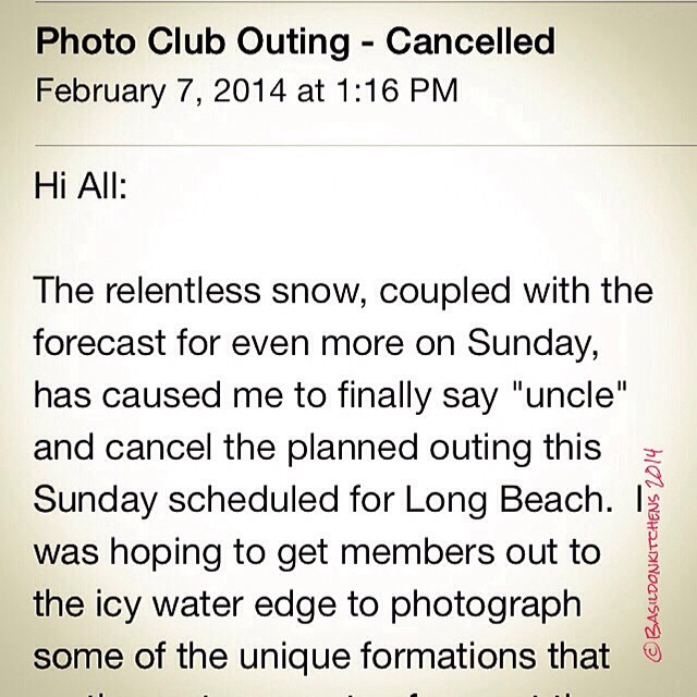 8/2/2014 - what a shame! {a much anticipated outing cancelled; again to too much winter!}  #photoaday #whatashame