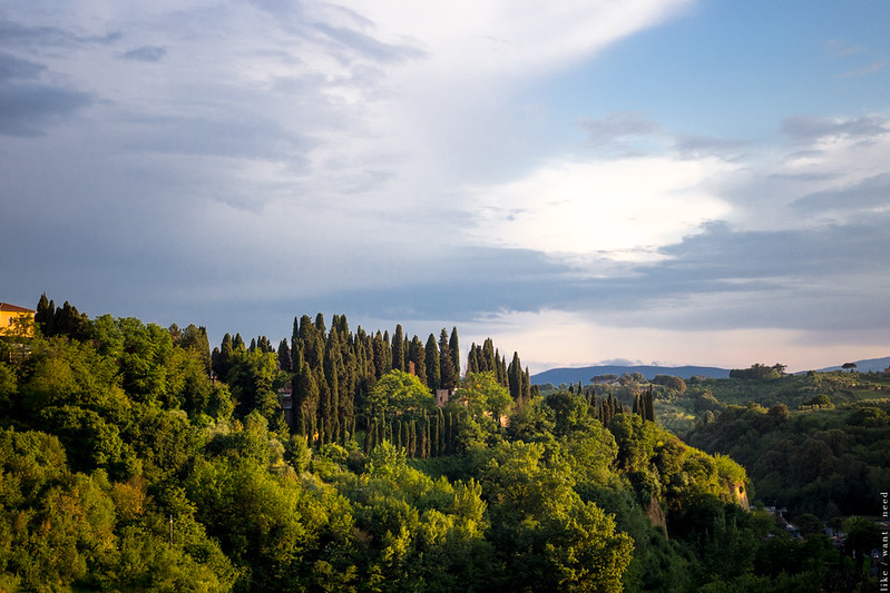 Siena, sunset