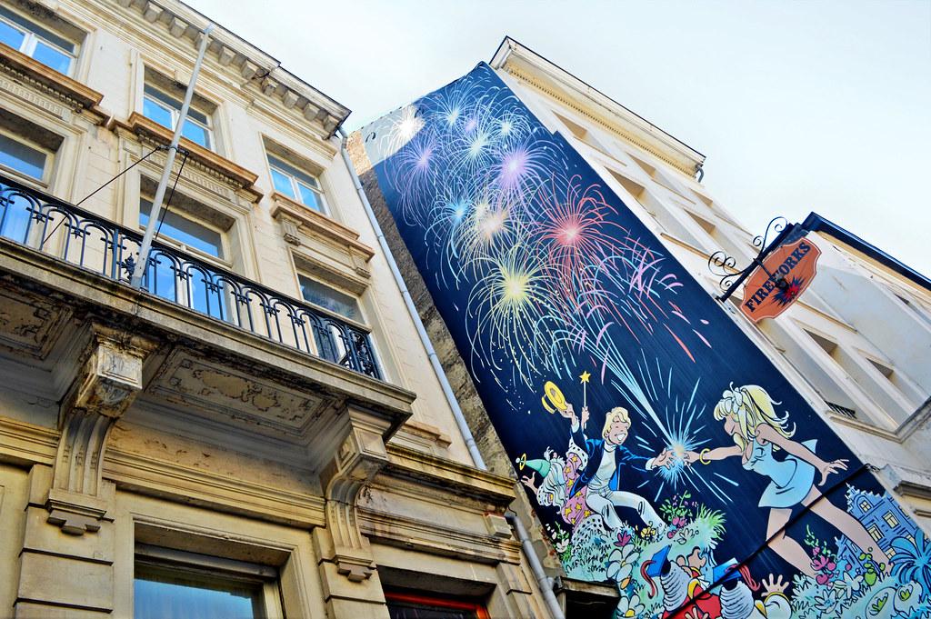 Comic Strip route in Brussel