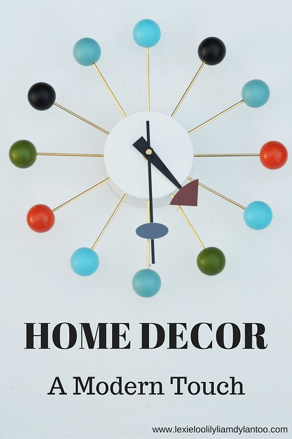 Home Decor - A Modern Touch (Featuring Modern Ball Clock from Regency Shop)