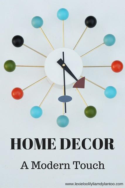 Home Decor - A Modern Touch (Featuring Modern Ball Clock from Regency Shop)