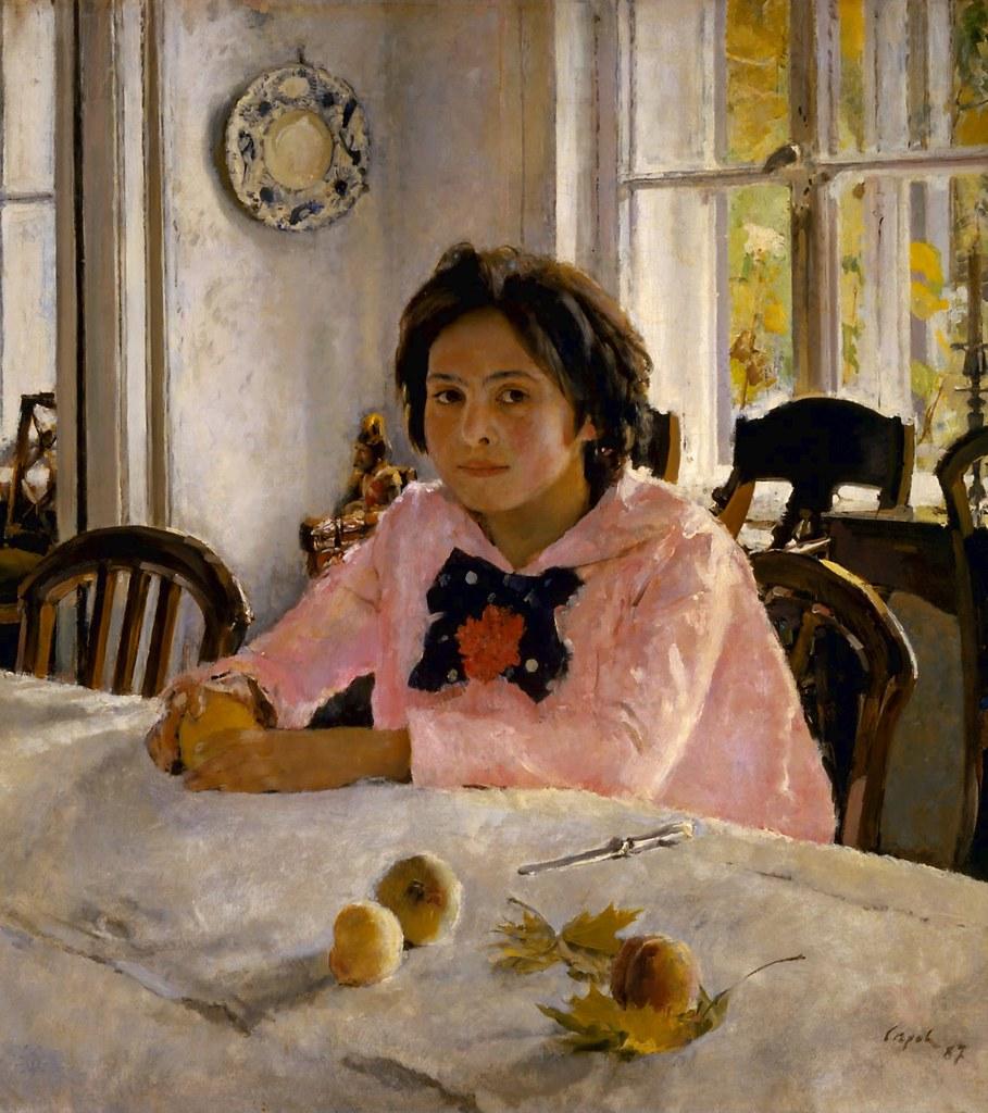 Фото картины девушка с персиком