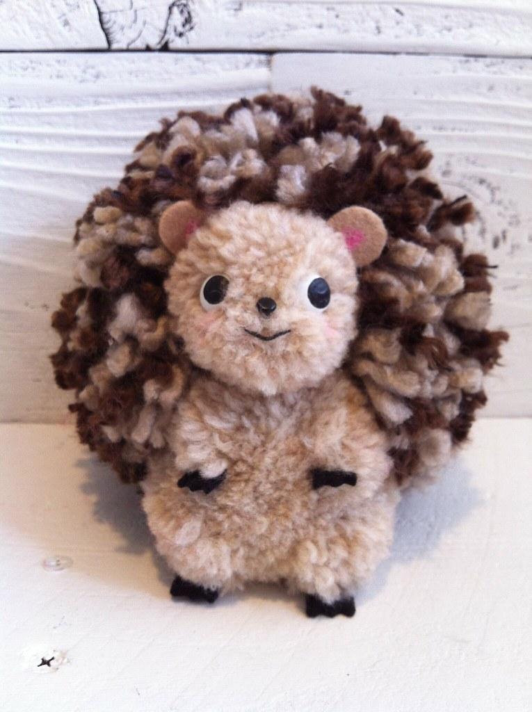 Hedgehog Pom Pom Sculpture Katy Kristin Flickr