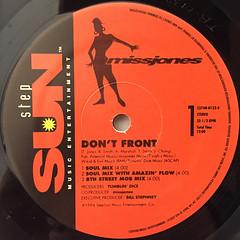 MISS JONES:DON'T FRONT(LABEL SIDE-A)