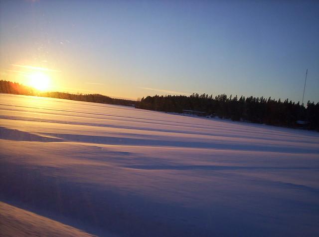 Naturaleza Finlandesa helada