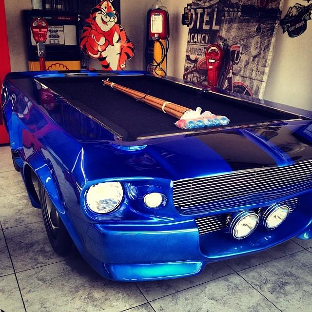 Best Pool Table Ever? #mustang #car #carro #pool #bilhar