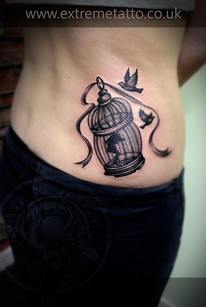 Ailsa Birdcage Tattoo  Bird Cage Girl Flickr