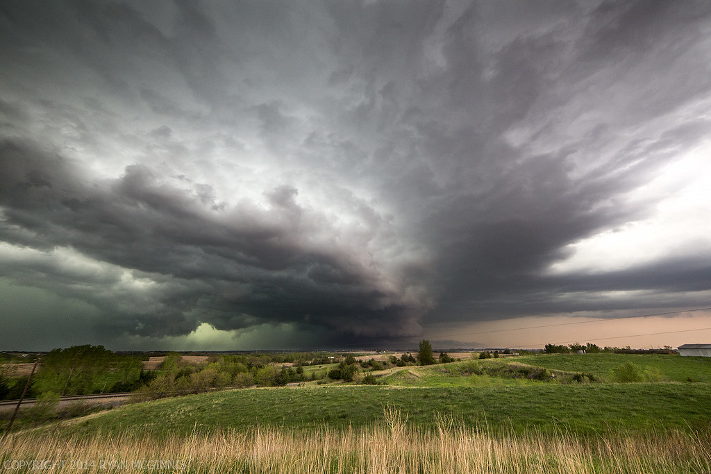 Scary Clouds North Of Lincoln May 11 2014 In Eastern Ne
