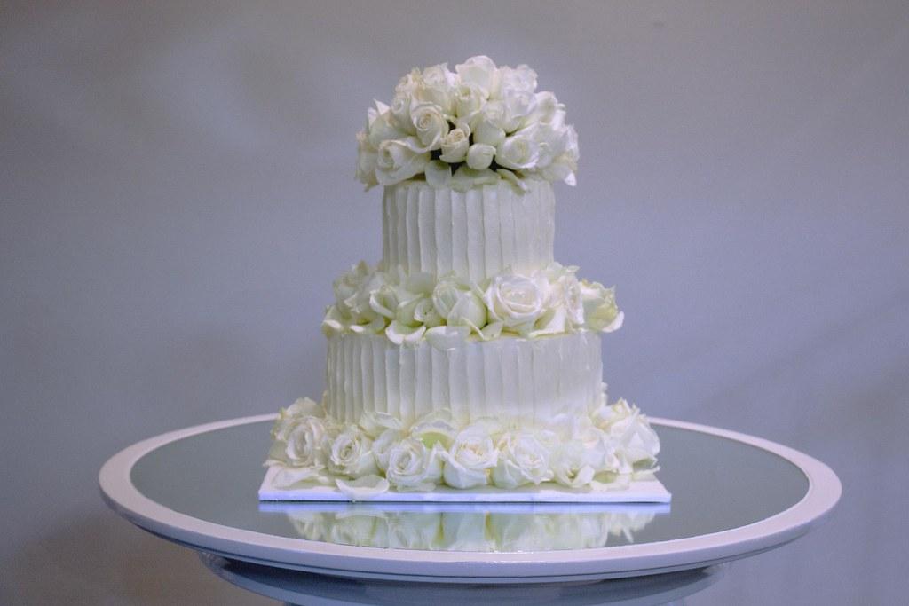Tier White Wedding Cake