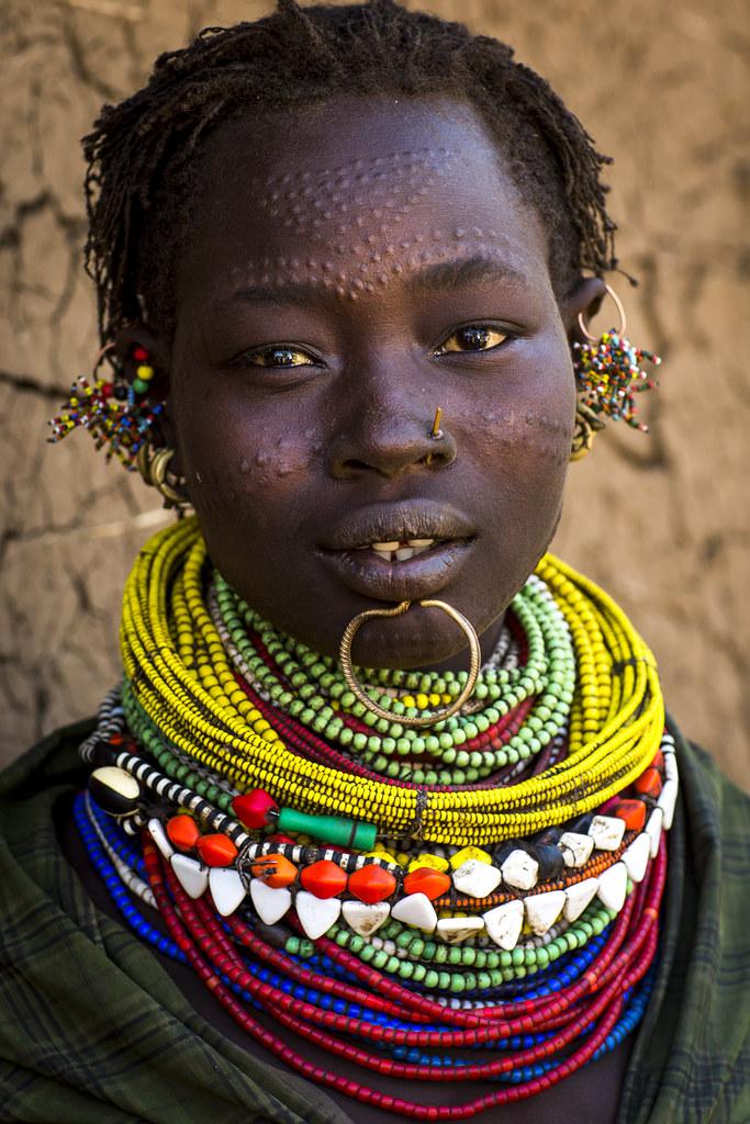 Topossa Tribe Woman In Kangate, Ethiopia  Topossa Tribe -5785