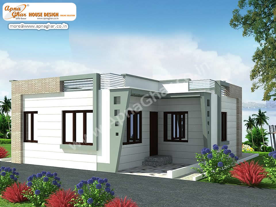 Small single floor house design small single floor house for Normal home front design