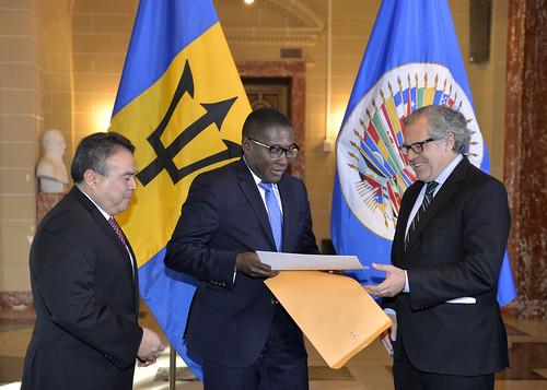 New Representative of Barbados Presents Credentials